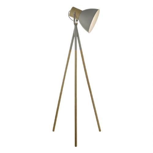 Adna Floor Lamp Grey & Wood ADN4939
